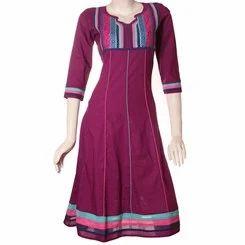 Harmony+Purple+Anarkali+Cotton+Kurti