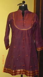 Embroidered Chanderi Kurti