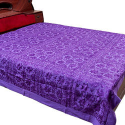 Full Embroidered Mirror Work Double Bed Cover