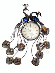 Peacock Design Metal Wall Clock