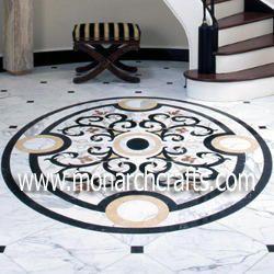 Marble Inlaid Center Flooring
