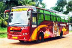 the gallery for gt red tourist bus in kerala