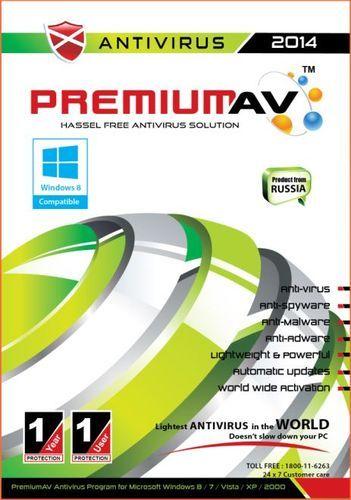 Premium AV Antivirus 2014 - 1 User 1 Year