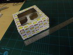 Custom Logo Printed Handmade Paper Cup Cake Boxes