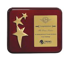 Star And Wood Plaque