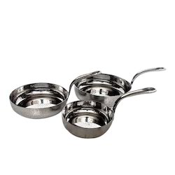SS Hammered Mini Frypan Portion Dishes