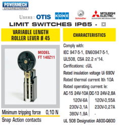 Elevator Limit Switches