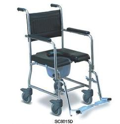 Stainless Steel Commode Wheelchair
