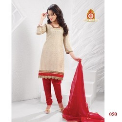 Casual Fancy Embroidery Churidaar Kameez Suit