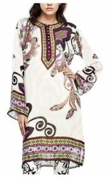 Kurta with Digital Print and Button Placket