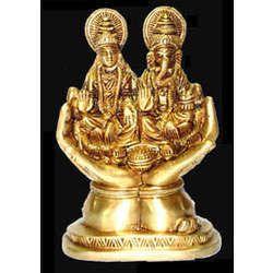 Laxmi Ganesh Sitting Statue On Hand