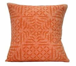 Cotton on cotton applique cutwork cushion cover