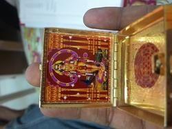 Golden Box Yantra Laxmi, Ganesh, Kartike photo