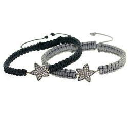 Diamond Star Charm Macrame Bracelet