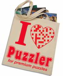 I Love Puzzler Canvas Bag