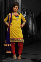Beautiful Yellow Readymade Salwar Kameez