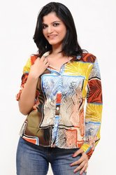 Basic Shirt in Printed Poly GGT