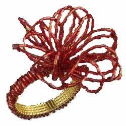 Beaded Flower Napkin Ring