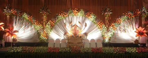 Ideal wedding decors photos for Auditorium stage decoration