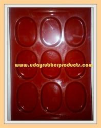 Silicone Soap Mold Oval - 9 Bars