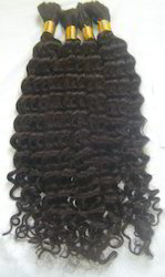 Indian Bulk Curly Hair Extension