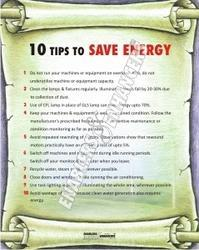 Tips to Save Energy- Poster