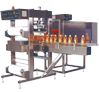 Shrink Tunnel with Collator and Web Sealer for Group Packing of Bottles