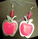 apple shape earring