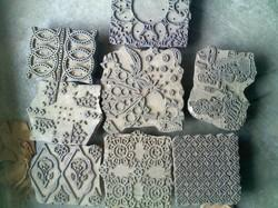 Old, Used, Antique Wooden Printing Blocks