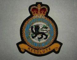 RAF 76 SQN. Hand Embroidered Blazer Badge