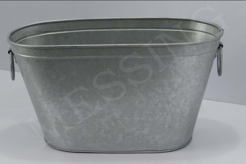 Galvanized Garden Outdoor Range Antique Pail Exporter from Moradabad