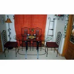 Designer Wrought Iron Dining Set 6 Seater