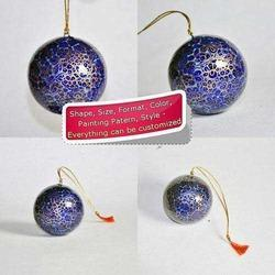 Blue Floral Bauble - Christmas Tree Hanging Decorations