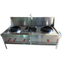 Two Burner Chinese Range with Water Chamber