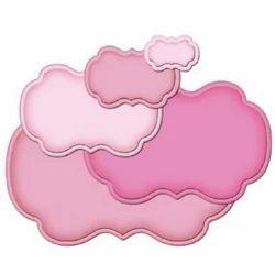 Pink Woven Die Cut Label