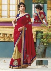 Red Color with Embroidery Saree