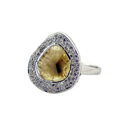Slice Pave Diamond Rings Jewelry