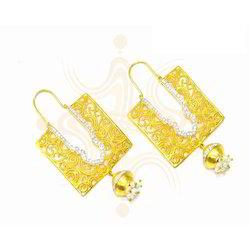 Square Antique Diamond Earrings