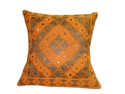 Culbuli Thread And Mirror Work Cushion Cover