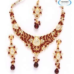 Artificial Wedding Necklace Jewelry Set