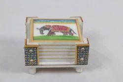 Marble Coaster Set Of 6 Pcs