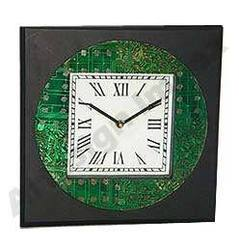 Recycled Motherboard Wall Clock