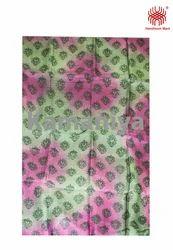 Handblock Silk Fabric
