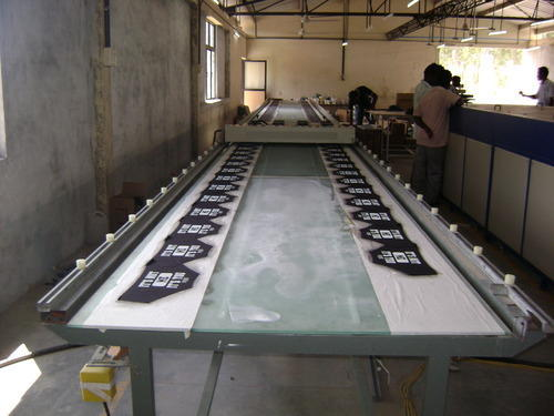 Screen Printing Glass Table