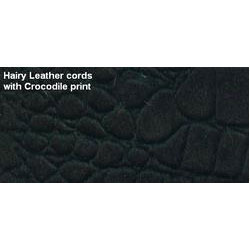 Crocodile Print Leather Cord