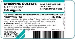 Atropine Sulphate Injection 1 ml