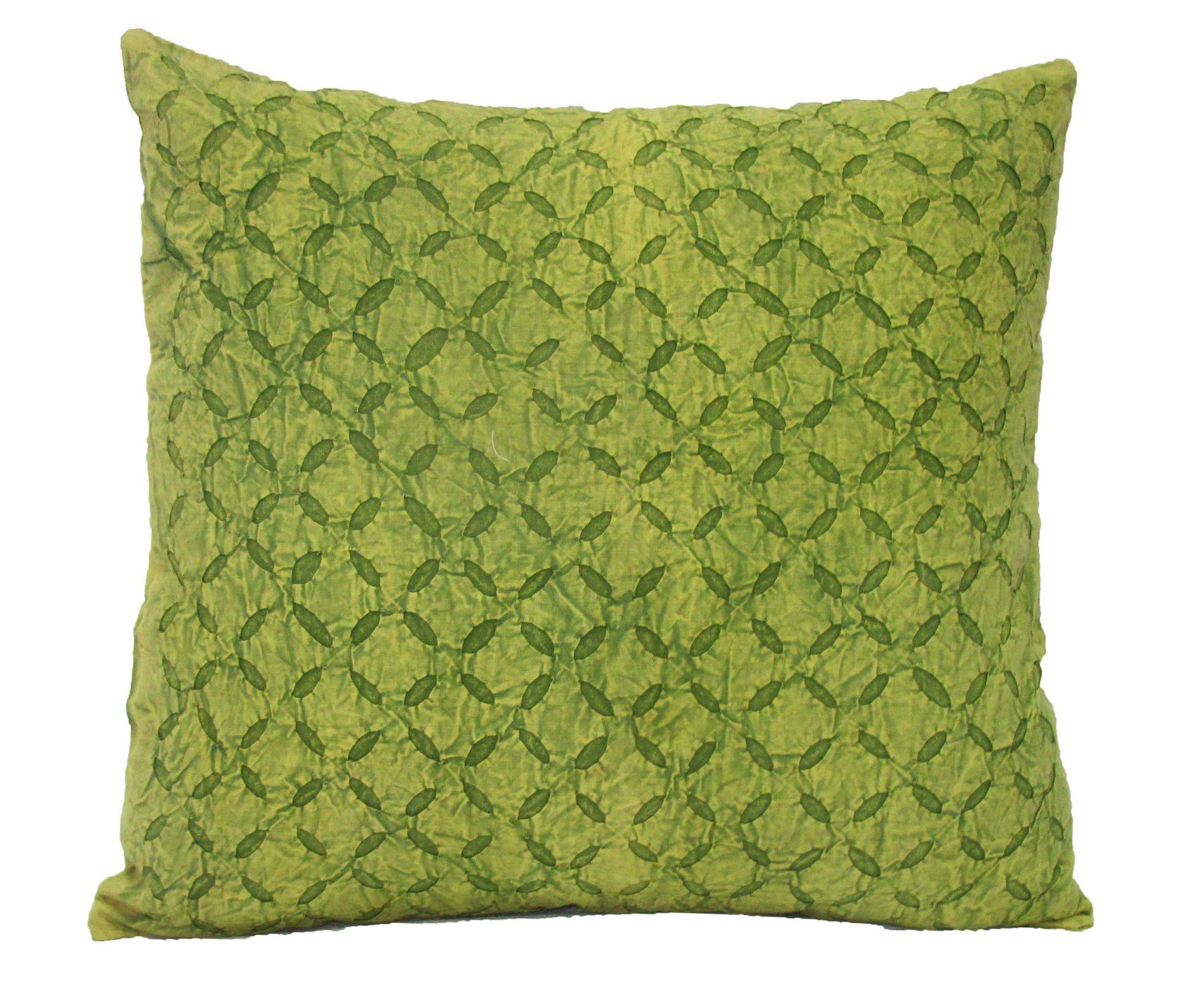 Applique cutwork cushion cover