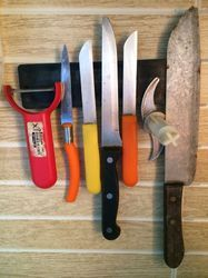 magnetic kitchen knife catch holder