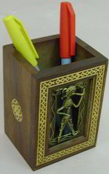 Dhokra Painting Pen Stand