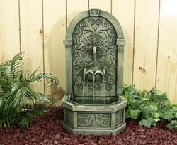 outdoor wall fountain